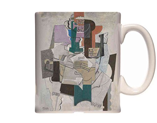 Mug Pablo Picasso Fruit Dish, Bottle and Violin Ceramic Cup Gift Box by Libby's ()