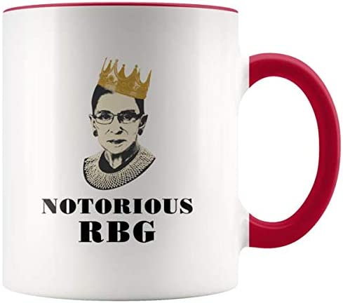 Official Notorious RBG Ruth Bader Ginsburg Contrast Coffee Mug White//red