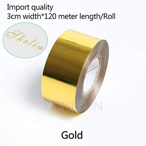 Tool Parts WDN DIY Transfer Hot Stamping embossing bronzing Paper Hot Selling Hot Foil Stamping Colorful Heat Stamping Foil Film - (Color: 3cm gold)