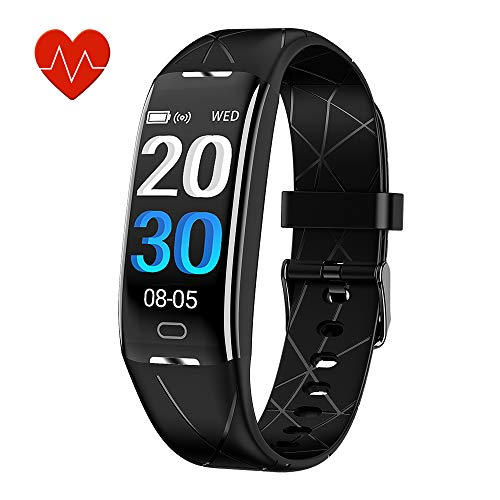 KEEPONFIT Fitness Tracker, Activity Tracker Watch with Heart Rate Monitor, IP68 Waterproof Pedometer...
