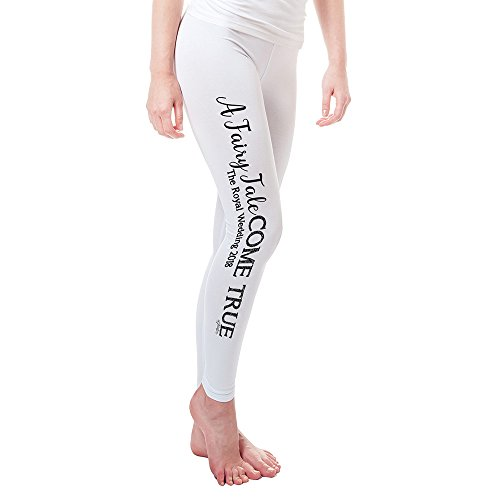 TWISTED ENVY Leggings for Women The Royal Wedding A Fairy Tale Come True Women's Leggings Large White by TWISTED ENVY