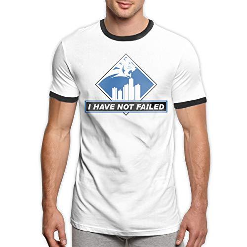 MiiyarHome Men's Ringer T-Shirt Detroit Lions Tickets 2015, Men Short Sleeves Jersey Causal Tee Black M