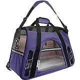 Paws & Pals Oxgord PTCR01-LG-PP Bolsa Transportadora para Mascotas hasta 20 lbs, Color Morado