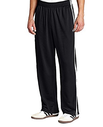 Adidas, Men's, Athletic Drawstring Weekender Pants, Black W/3 White Stripes, XL