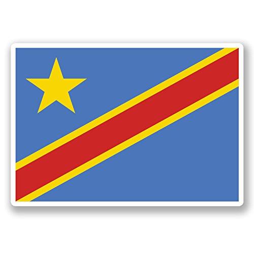 2 x Congo Kinshasa Flag Vinyl - Kinshasa Congo Flag