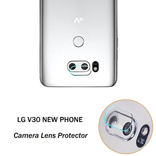 Genko-2 Pieces High Definition Ultra Thin Transparent Clear Camera Protector Lens Tempered Glass for LG V30 H930 H931 H932 Glass Lens Cover