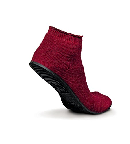 Medline MDT211220S Sure-Grip Terrycloth Slippers, Small, Red (Pack of ()