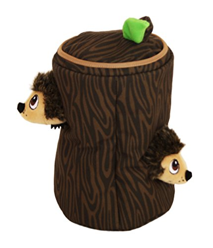 Hide a Hedgie Hedgehog Fun Hide and Seek Interactive Puzzle Plush Dog Toy by Outward Hound, 4 Piece, Large