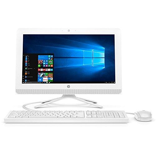 HP 19-inch All-in-One Computer, Intel Celeron J3355, 4GB RAM, 1TB hard drive, Windows 10 (20-c210, White)