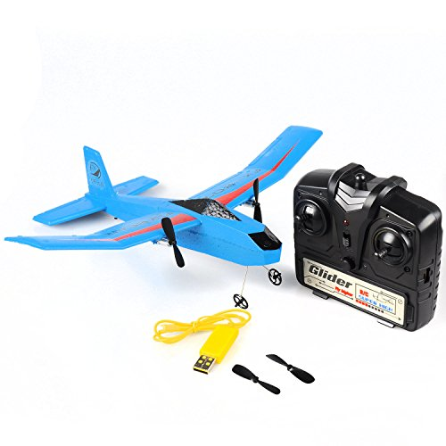 Angelwing RC Glider Fly Plane RTF RC Airplane Aircraft Bear FX-807 2.4G 2CH 310mm EPP - 25 Days Of Fx Christmas