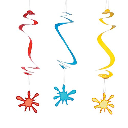 Fun Express Artist Paint Splat Hanging Swirls 24 Count]()