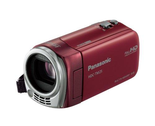 Panasonic デジタルハイビジョンビデオカメラ TM25 内蔵メモリー8GB レッド HDC-TM25-Rの商品画像
