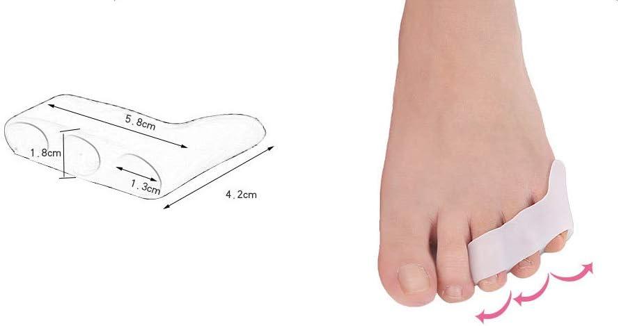 para la correcci/ón de Dedos superpuestos Jessicadaphne Separadores de Dedos