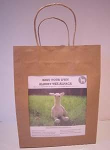 Kit para tejer animal, diseño de la alpaca Albert