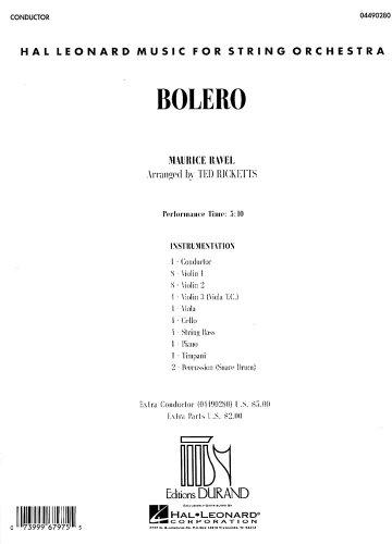 Bolero: Full Score (Hal Leonard Music for String Orchestra) (Hal Leonard Full Orchestra)