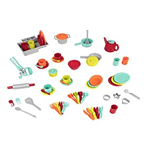 Battat – Deluxe Kitchen – Pretend Play Accessory Toy Set (71 Pieces Including Pots & Pans)