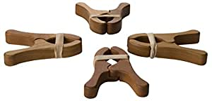 Sarah's Silks Cherry Play Clips, Set of 4 Fort Building Play Stands