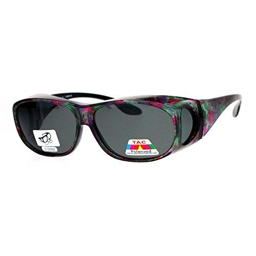 SA106 Polarized Womens 63mm Over the Glasses Rectangular Fit Over Sunglasses - Sunglasses 63mm