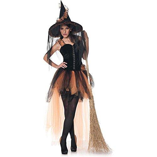[Underwraps Women's Hallow's Eve, Black/Orange, Medium] (Salem Witches Costumes)