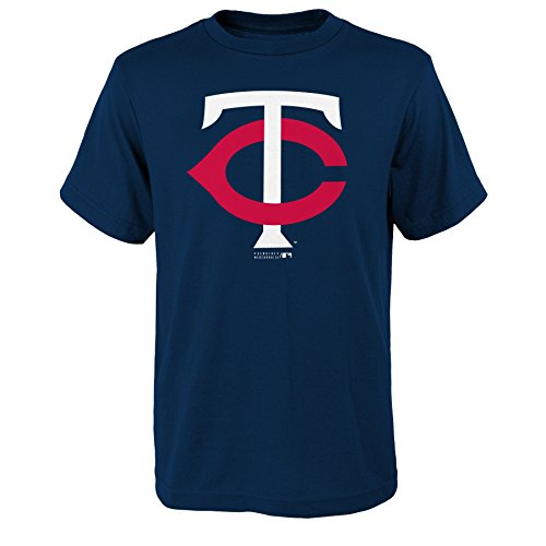 MLB Minnesota Twins Boys Primary Logo Short Sleeve Tee, Athletic Navy, Size - Minnesota Fabric Fleece Twins