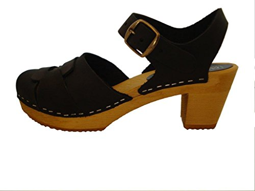 Moheda Womens Ally Nubuck Sandals Black