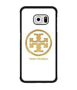 Tory Burch Funda Case For Samsung S6 Edge , Fans Favorite Unique Design Fan Art Drop Protection Anti Slip Anti Scratch High Impact For Galaxy S6 Edge Cell Phone Cover Only Fit Samsung Galaxy S6 Edge (Not For S6 / S6 Edge Plus)