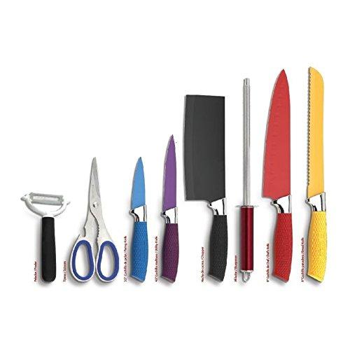 Set de cuchillos acero inoxidable royal crown 8 piezas ...