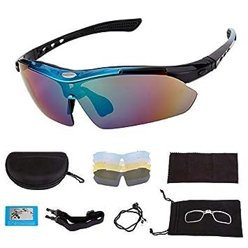 a695e40f6a Gosccess Polarized Cycling Glasses UV400 Protección Gafas de sol deportivas  con 5 lentes intercambiables(negro): Amazon.es: Deportes y aire libre