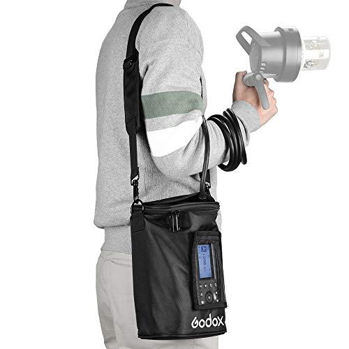 Godox PB-600P Portable Flash Light Case Bag with Shoulder Strap for Godox Witstro AD600Pro Strobe Light Monolight+Pergear -