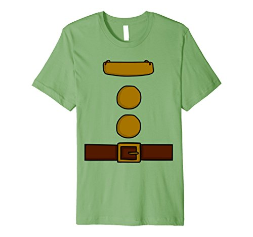 Teacher Group Costume Ideas (Mens Dwarf Halloween Group Costume Idea T-Shirt with name plaque Large Grass)