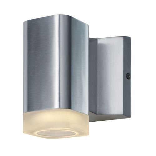 Maxim 86131AL Lightray LED Wall Sconce, Brushed Aluminum Finish, Glass, PCB LED Bulb , 18W Max., Wet Safety Rating, 2700K Color Temp, Shade Material, 1355 Rated Lumens