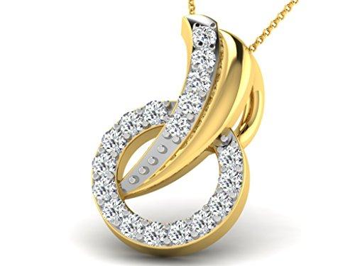 Or Jaune 18 ct Pendentifs Diamant , 0.07 Ct Diamant, GH-SI, 0.63 grammes.