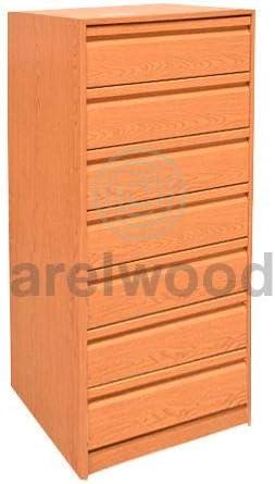 arelwood Cajonera para Armario Wengue Montada 75X50-7 Cajones. Alto 121,3 cm.: Amazon.es: Hogar