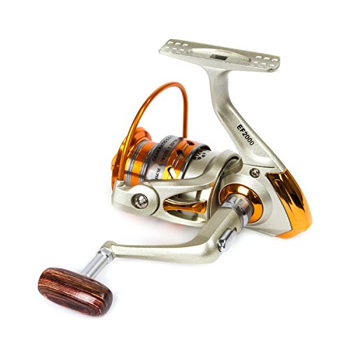 Bail Arm (SUNVP Full Metal New Style Aluminum Saltwater Freshwater High Speed Fishing Reels Spinning Left/Right Gold)