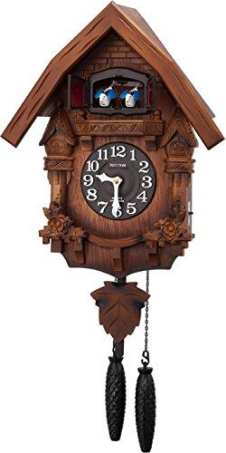 RHYTHM ( rhythm clock) [ earnest bellows type cuckoo clock cuckoo ] Therese R  Japan assembly  wood frame / dark brown blur wooden base finish 4MJ236RH06