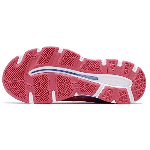 Asics Womens Gel-netburner Professional 13, Rouge Red / Cosmo Pink / Arioso Blu Rouge Rosso / Cosmo Rosa / Arioso Blu