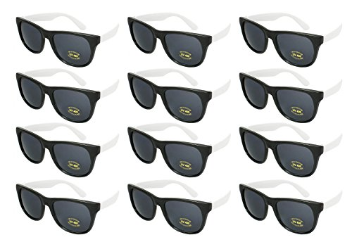 Edge I-Wear 12 Bulk 80s Party Sunglasses Neon