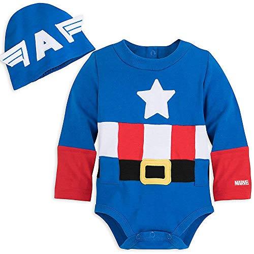Disney Marvel Captain America Costume Bodysuit for Baby (6-9 Months)