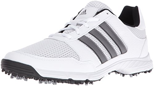 adidas Men's Tech Response Golf Shoe, White, 11 M US