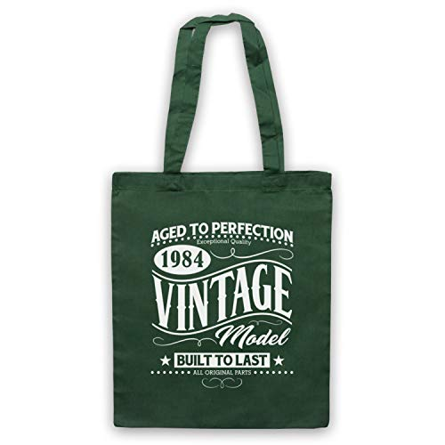Verde Oscuro Bolso Vintage Date Icon Born In Year Birth amp; Art Model 1984 Clothing My xqTf4awHT