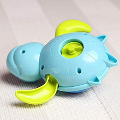 FUNZZY Tortoise Bathing Toys Bathing Time Wind-up Toys Shower Clockwork Toys Water Tub Floating Toy for Bathing 3Pcs (Blue) : Baby