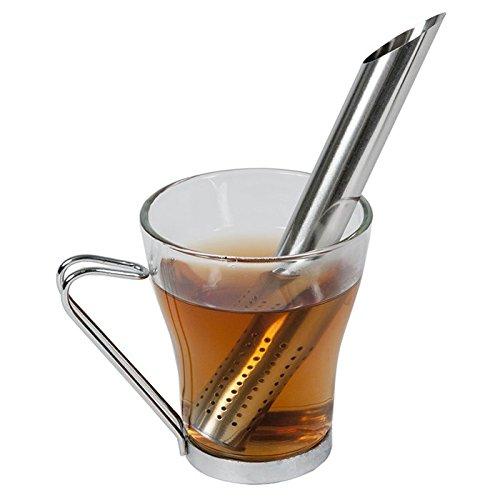 Teesiebstab aus Edelstahl # runde Ausführung # Länge von 17 cm # Durchmesser von 2 cm # Teesieb # Tea strainer stick # Teefilter # Dauerfilter # Teastick # Tee-Ei