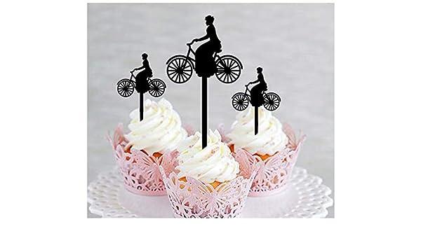 Decoración para cupcakes, aniversario, boda, cumpleaños, fiesta ...