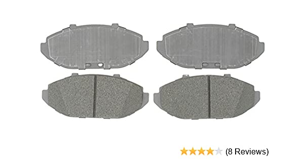 Disc Brake Pad Set-Organic Disc Brake Pad Front,Rear ACDelco Advantage 14D8