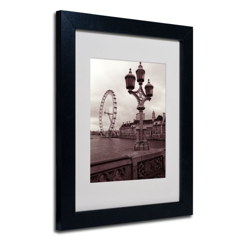 London Eye 2 by Kathy Yates Matted Framed Art with Black Frame, 11 by 14-Inch