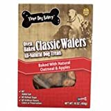 Three Dog Bakery Classic Wafers Apple Oatmeal, Baked Dog Treats, 16-Ounce For Sale