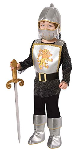 UHC Boy's Brave Knight Toddler Fancy Dress Chainmail Armour Theme Child Costume, 1-2T