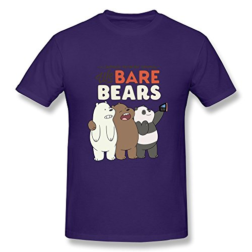100% Cotton Round Neck Cool We Bare Bears Men Tee Shirt