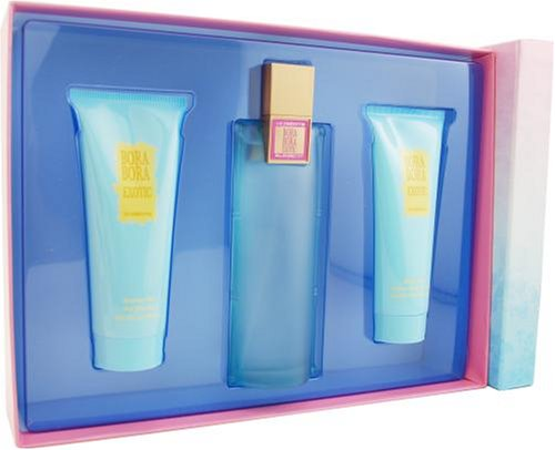 Bora Bora Gel Perfume - Bora Bora Exotic by Liz Claiborne For Women. Set-eau De Parfum Spray 3.4-Ounces & Body Lotion 3.4-Ounces & Shower Gel 3.4-Ounces