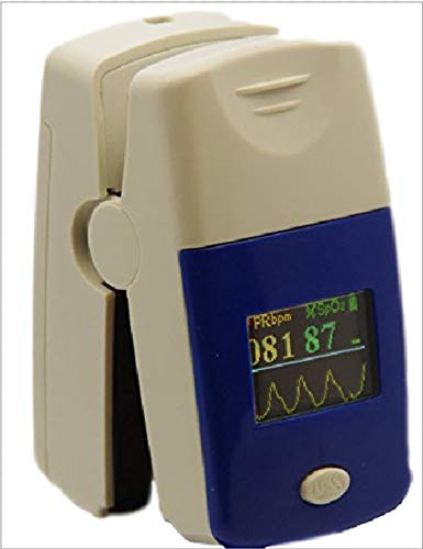 Finger Oximeter Unit - Fingertip Pulse Oximeter, 2 Direction Color Display , with Carrying Case